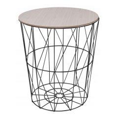 Konferenční stolek 35x40 cm SPRINGOS RINO černý