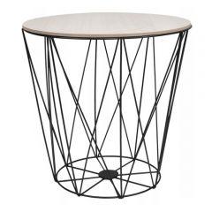 Konferenční stolek 39x40 cm SPRINGOS RINO černý/šedý dub