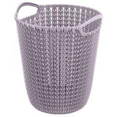 Curver Knit Paper Bin koš 7l světle fialový