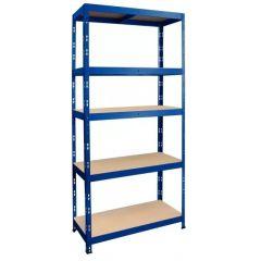 Kovový regál METALKAS R175 NIT 180x90x40 cm 5 polic MDF modrý