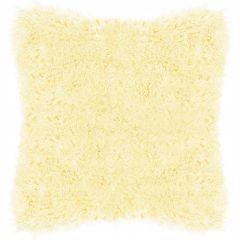 Polštář chlupatý 40x40 cm SPRINGOS DOWNY žlutý