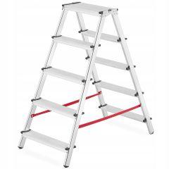 Hliníkové štafle 2x5 stupňů oboustranné HIGHER DDL-5