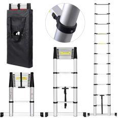 Teleskopický žebřík 3,8m HIGHER TL-12 + stabilizátor + taška