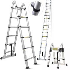 Teleskopický žebřík / štafle 5m HIGHER TL2-8 + stabilizátor + taška