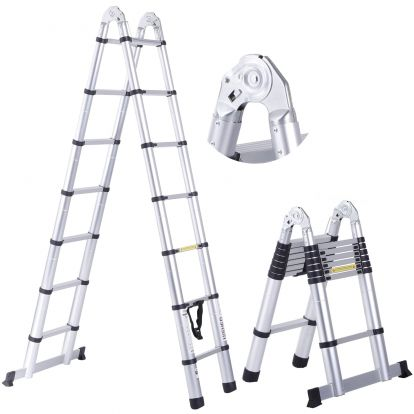 Teleskopický žebřík / štafle 4,4m HIGHER TL2-7 + stabilizátor + taška