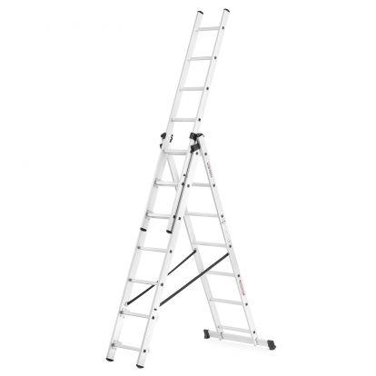 Hliníkový žebřík 3x7 příček, 5,4M HIGHER IDL-307 BASIC