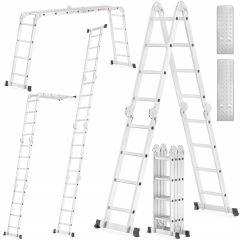 Multifunkční žebřík 4x4 příčky + plošina HIGHER MFL-404P PRO