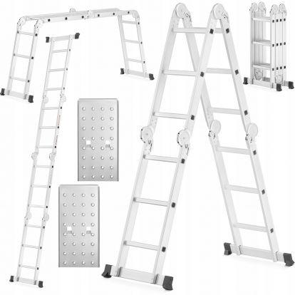 Multifunkční žebřík 4x3 příčky + plošina HIGHER MFL-403P PRO