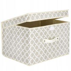 Úložný box 40x30x25 cm, béžový vzor SPRINGOS