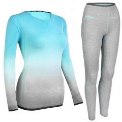 Spokey FLORA Set dámského termoprádla - triko a spodky, vel. S/M - L/XL