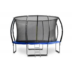 Trampolína G21 SpaceJump, 366 cm, modrá, s ochrannou sítí + schůdky zdarma