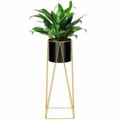 Květináč se stojanem 70 cm zlatý SPRINGOS ARTON