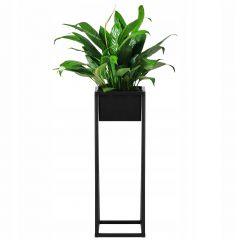 Květináč se stojanem 80 cm černý SPRINGOS BOLD