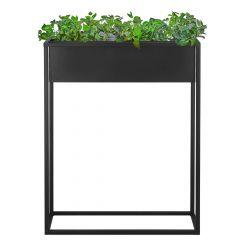 Květináč se stojanem / záhon 80x60 cm černý SPRINGOS BOLD