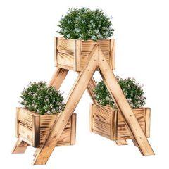 Dřevěný záhon se 3 truhlíky SPRINGOS KWD