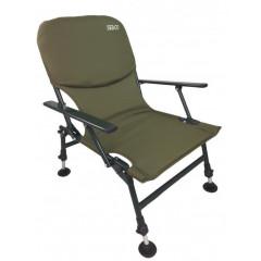 Rybářská židle s opěrkou SEDCO FISHING FC002 - khaki