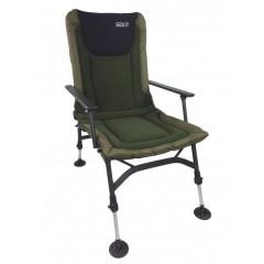Rybářská židle s opěrkou SEDCO FISHING FLEECE FC005 - khaki