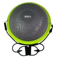 Balanční podložka SEDCO CX-GB1510 DOME BALL 60 cm s madly - šedá