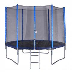 Trampolína 180 cm + síť + žebřík modrá - modrá