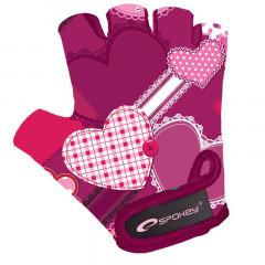 Spokey HEART GLOVE Dětské cyklistické rukavice XS