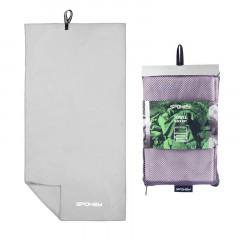 Spokey SIROCCO L Rychleschnoucí ručník 50x120 cm, šedý s odnímatelnou sponou