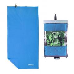 Spokey SIROCCO L Rychleschnoucí ručník 50x120 cm, modrý s odnímatelnou sponou