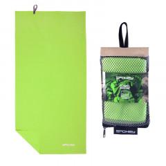 Spokey SIROCCO XL Rychleschnoucí ručník 80x150 cm, zelený s odnímatelnou sponou