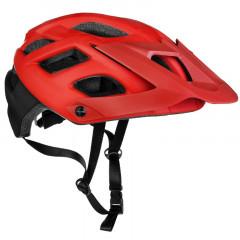 Spokey SINGLETRAIL Cyklistická přilba pro dospělé a juniory IN-MOLD, 58-61 cm, červená