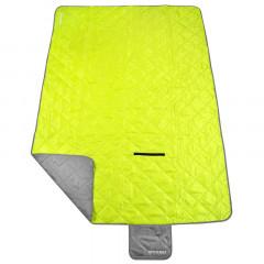 Spokey CANYON Kempinková deka 200x140cm, šedo/zelená