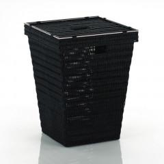 Koš na prádlo NOBLESSE PP plast, černý 40x40x53 cm KELA KL-20968