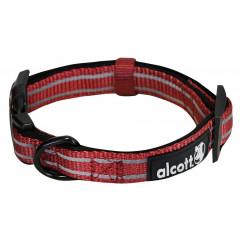 Alcott reflexní obojek pro psy, Adventure, červený, velikost S