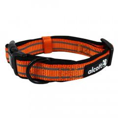 Alcott Reflexní obojek pro psy, oranžový, velikost S