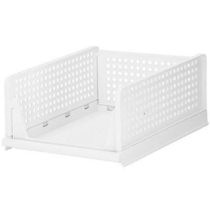 Multifunkční stohovatelný organizér 33x43x18,5 cm bílý SPRINGOS HA2014