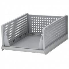 Multifunkční stohovatelný organizér 33x43x18,5 cm šedý SPRINGOS HA2015