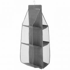 Závěsný organizér 6 polic, 34x30x90 cm, šedý SPRINGOS HA3120