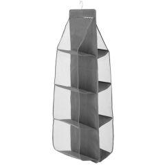 Závěsný organizér 8 polic, 34x30x115 cm, šedý SPRINGOS HA3122
