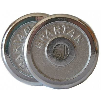 Sada závaží 2*15 kg CHROM SPARTAN, osa 30 mm
