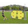 Kvalitní celokovová branka na fotbal se sítí a odnímatelným terčem pro trénování přesnosti střelby.