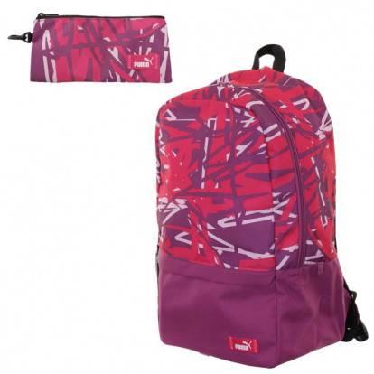 Školní batoh Puma BTS 074466 03 růžový + zdarma penál