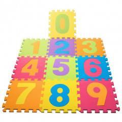 Pěnová podložka na hraní PUZZLE Čísla sada 10 ks