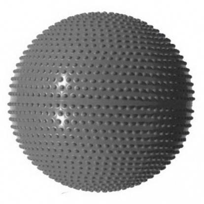Gymnastický míč MASÁŽNÍ 65 stříbrný