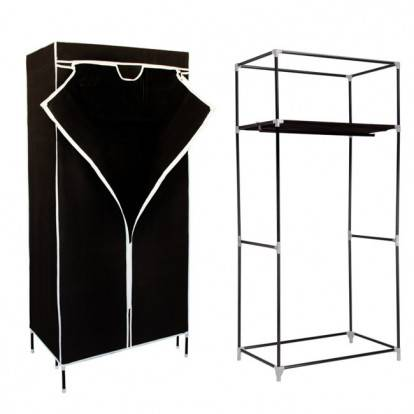 Šatní skříň HAGEN 160x72x45 cm černá