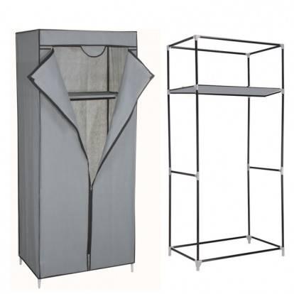Šatní skříň HAGEN 160x72x45 cm šedá