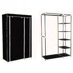 Šatní skříň HAGEN 172x110x45 cm černá