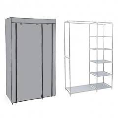 Šatní skříň HAGEN 172x110x45 cm šedá