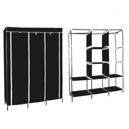 Šatní skříň HAGEN 172x150x45 cm černá