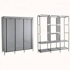 Šatní skříň HAGEN 172x150x45 cm šedá