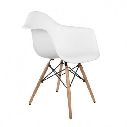 Designová židle SPRINGOS ARIANA bílá