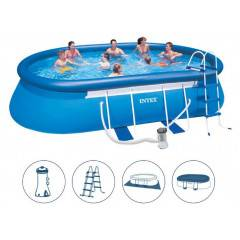 Bazén Intex 26192 Easy Ovál 549x305x107 cm + kompletní příslušenství