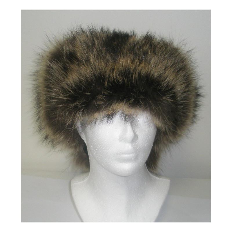 1ba5055f9f4 ... Kožešinová čepice ušanka mýval kombinovaná kůží MAKSIMA hnědá ...